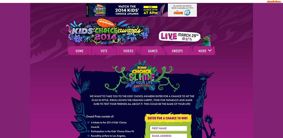 #4918-Kids' Choice Slime of Your Life Sweepstakes!-www_nick_com_kids-choice-awards_2014_kca-sweeps