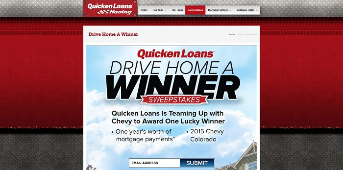 qlracing.com - Quicken Loans Drive Home A Winner Sweepstakes