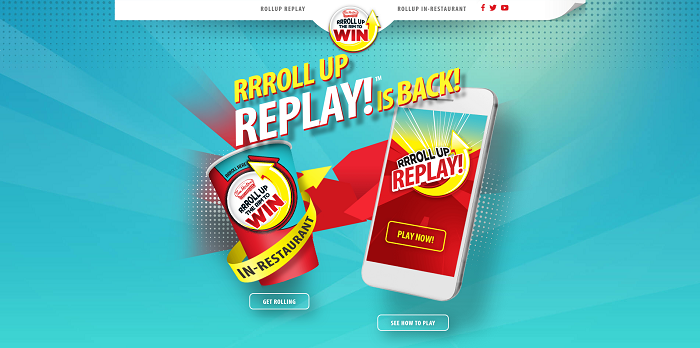 RollUpTheRimToWin.com - Play Roll Up The Rim Replay