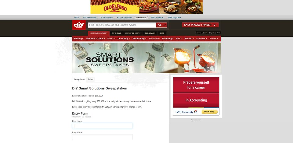 #401-Smart Solutions Sweepstakes from DIY Network-www_diynetw