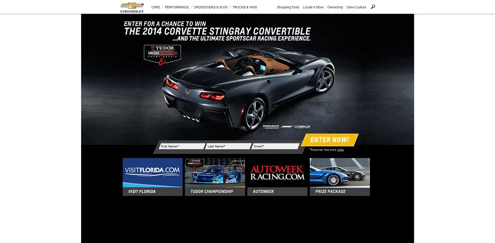#5227-Corvette Racing Sweepstakes_ Win a 2014 Stingray and More! I Chevrolet-www_chevrolet_com_corvette-racing-sweepstakes_html