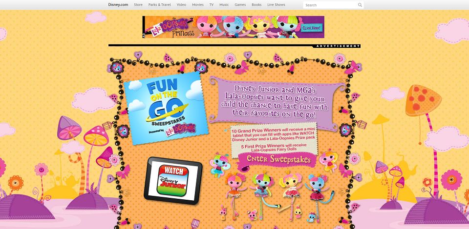 #645-LalaOopsie Fun On The Go Sweepstakes I Disney-disney_go_com_partners_funonthego