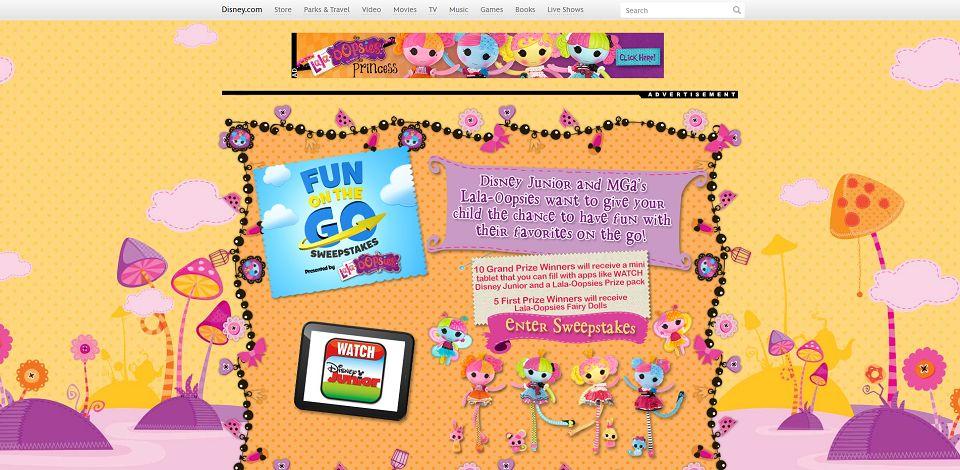 #645-LalaOopsie Fun On The Go Sweepstakes I Disney-disne