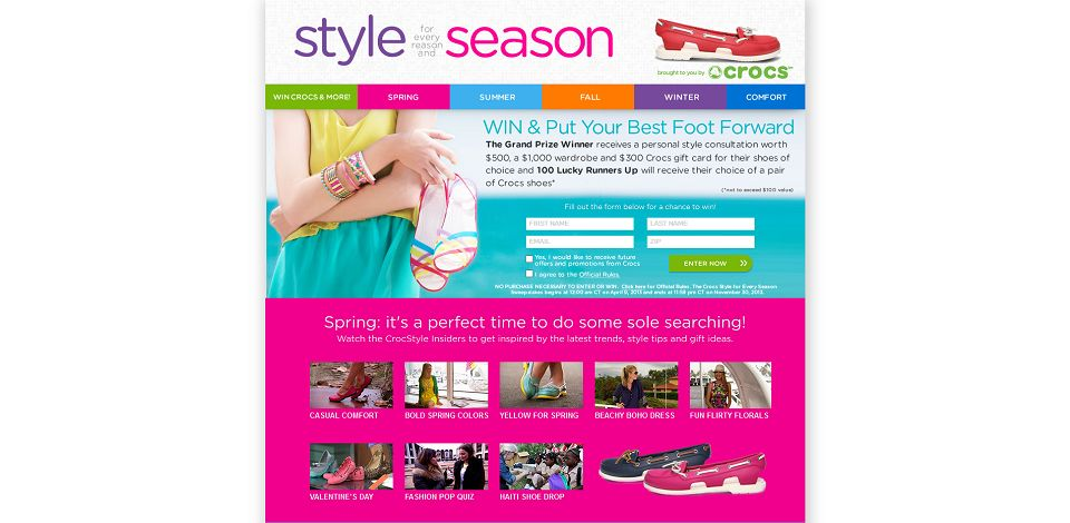 #1011-Croc Style for Every Season Sweepstakes I Win Crocs Shoes-crocsstyle_brandmovers_net