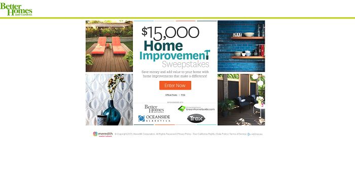 Top 28 better homes and gardens daily sweepstakes Home and garden contest