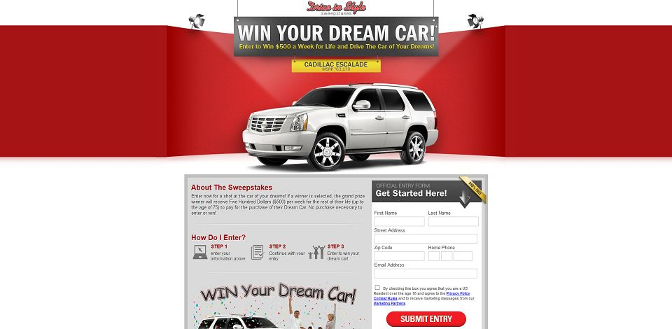 #882-Drive In Style Sweepstakes-www_megajackpot4life_com_driveinstyle_applystepone_aspx_flowid=3&sid=2321&hid=659045437&cd=501212&c1=&c2=&c3=