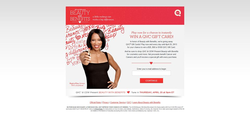 #907-QVC Beauty with Benefits - Welcome-www_qvcsweepstak