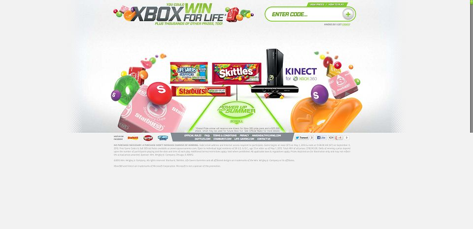 #1180-Xbox for Life from Skittles®, Starburst® and Life Savers Gummies®-www_powerupyoursummer_com_default_aspx