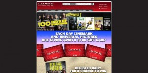 Cinemark and Universal's 100 Days of Summer Sweepstakes