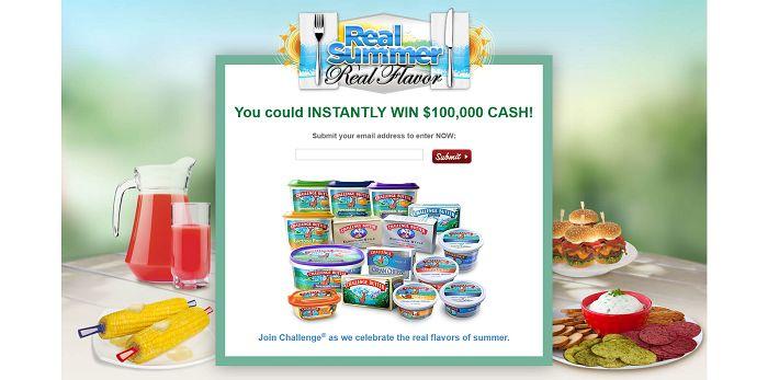 RealSummerRealFlavor.com - Challenge Butter $100,000 Real Summer. Real Flavor. Promotion