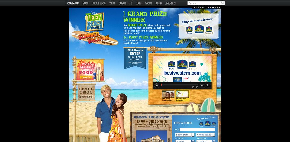 #1814-Teen Beach Summer Vacation Sweepstakes I Disney-disney_go_com_partners_beach