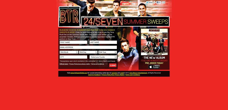 Btr band summer sweepstake