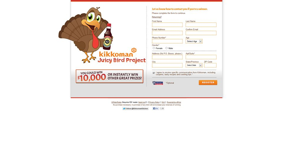 #1981-Kikkoman Juicy Bird Sweepstakes-kikkoman_promo_eprize_com_sweeps