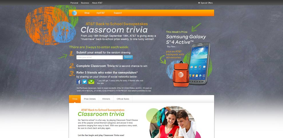 #2155-AT&T Back to School Sweepstakes - Classroom Trivia-backtosc