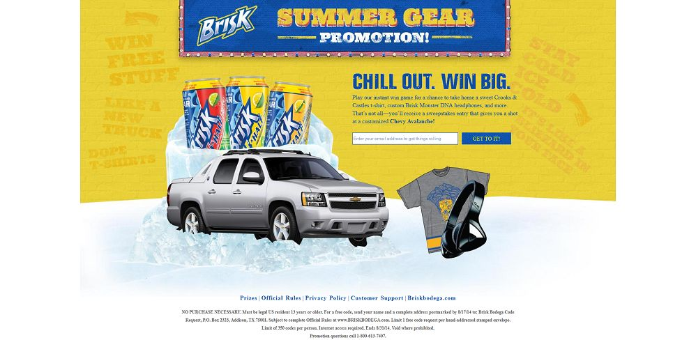 #5955-Brisk Summer Promotion - Welcome-briskgear_briskbodega_com