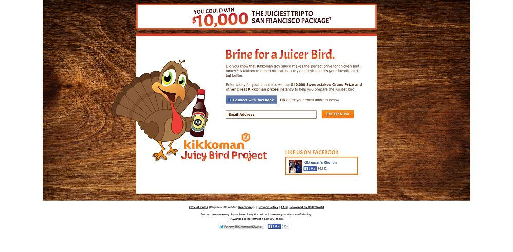 #7131-Kikkoman Juicy Bird Sweepstakes-kikkoman_promo_eprize_com_juicybird