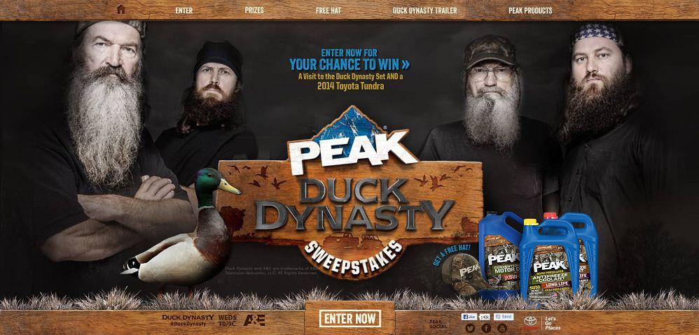 #2359-PEAK-Duck Dynasty Sweepstakes-peakduckdynasty_com