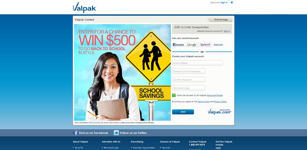 the valpak 500 a day giveaway