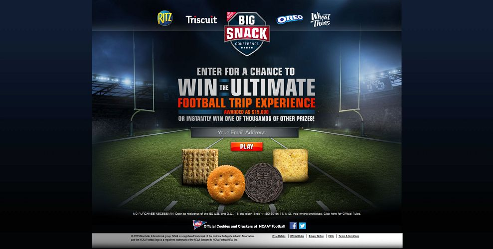 #2553-Big Snack Conference Giveaway Instant Win Game & Sweepstakes-mondelez_promo_eprize_com_bigsnack_#