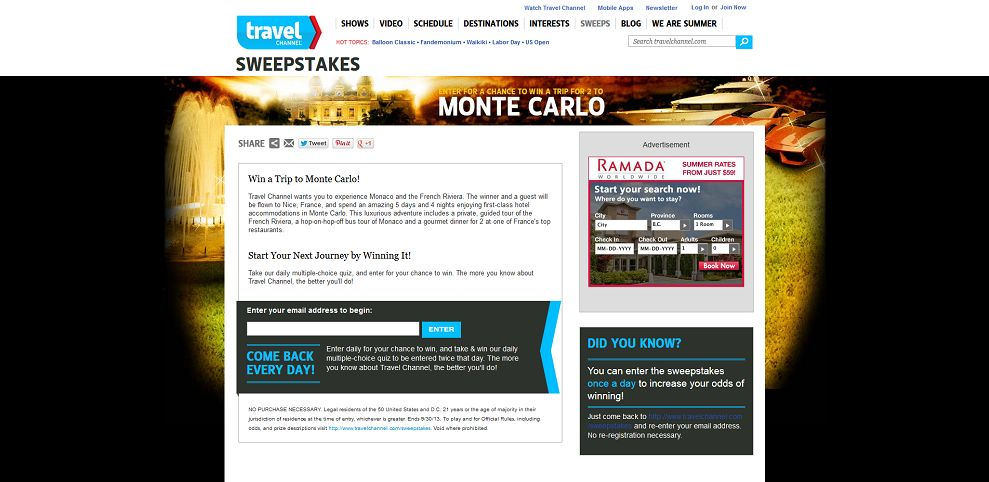 #2613-Win a Trip for 2 to Monte Carlo-www_travelchannel_com_sweepstakes