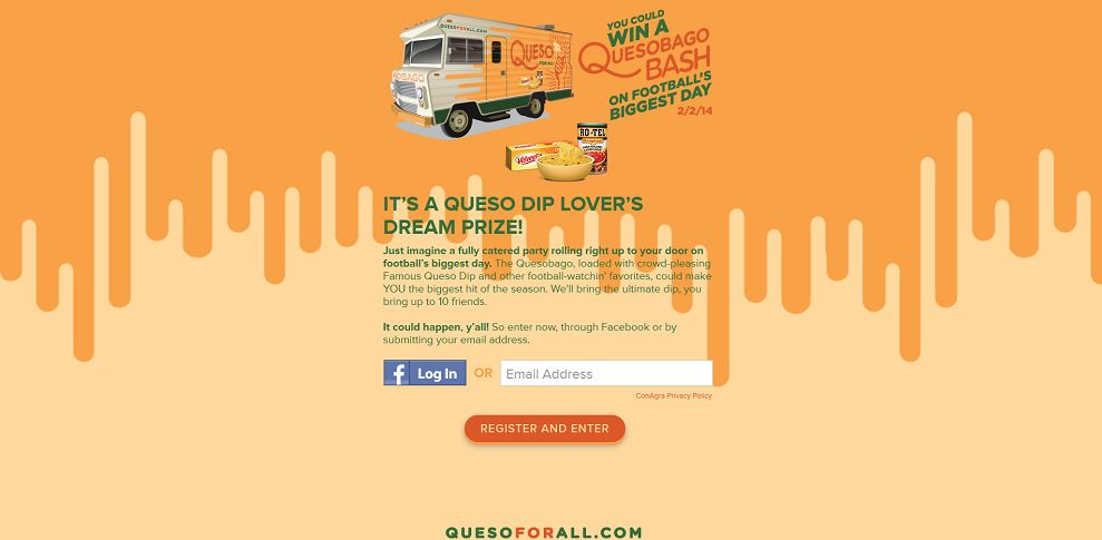 #2822-Queso For All Sweepstakes-rotel_promo_eprize_com_quesoforall