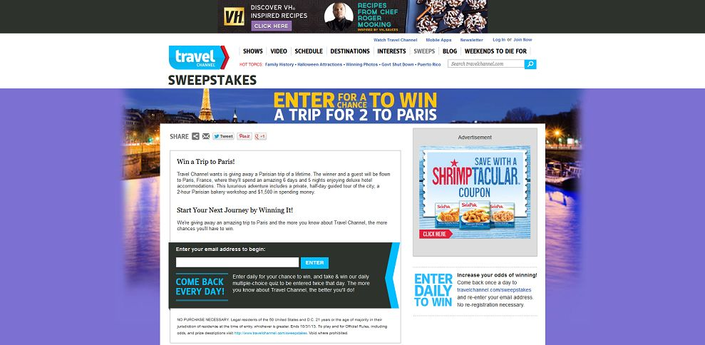 #3023-Win a Trip for 2 to Paris-www_travelchannel_co