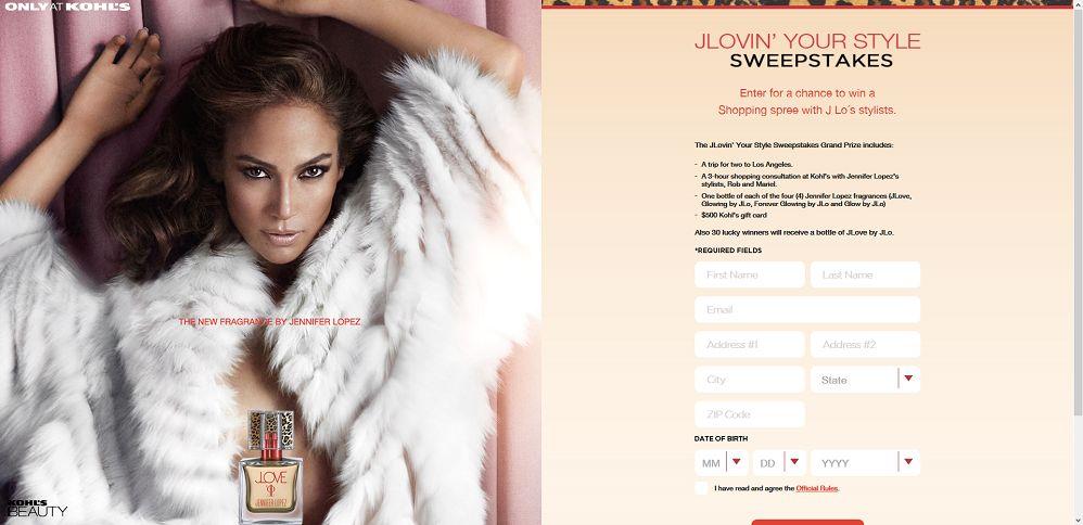 #3042-JLovin' Your Style Sweepstakes-kohlsjlovinyourstylesweepstakes_com_s