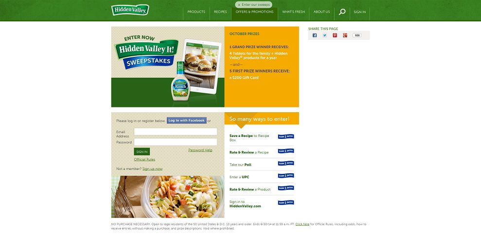 #3187-Offers & Promotions I Hidden Valley®-www_hiddenvalley_com_offers-and-promotions