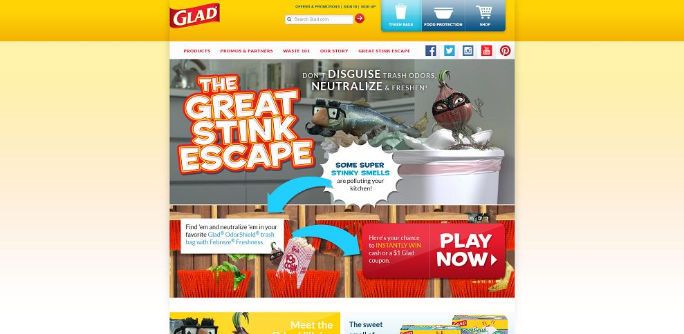 #3258-Glad® I Food Storage Containers & Trash Bags-www_glad_com_great-stink-escape