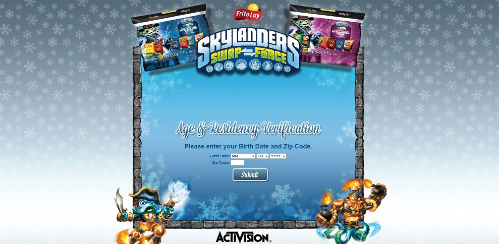 #3401-2013 Frito-Lay_Skylanders® Rattle Shake Instant-Win Game-www_fritolayholiday_com_age-validation