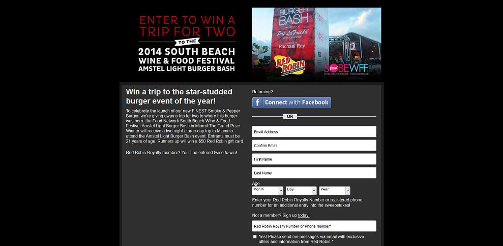 ... -Red Robin Holiday Sweepstakes-redrobin_promo_eprize_com_sweepstakes