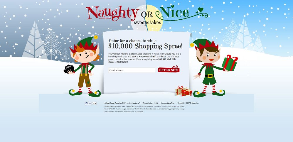 #3710-The Naughty or Nice Sweepstakes-macerich_promo_eprize_com_holiday2013