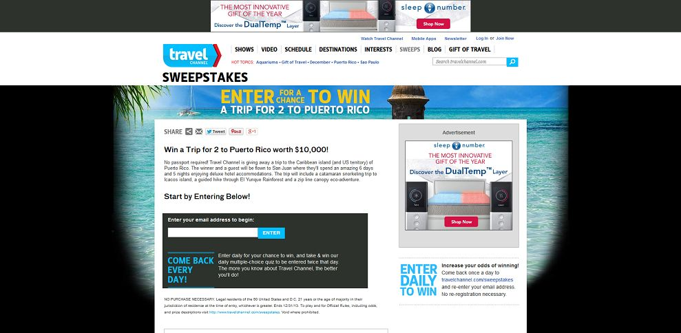 #3756-Win a Trip for 2 to Puerto Rico-www_travelchannel_com_sweepstakes