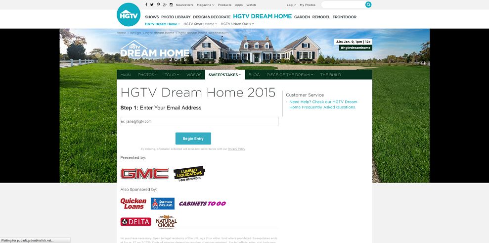 HGTV Dream Home 2015 Giveaway (hgtv.com/HGTVDreamHome)