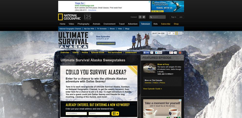 #4149-Ultimate Survival Alaska Sweepstakes I National Geographic Channel-channel_nationalgeographic_com_channel_ultimate-survival-alaska_interactives_ultimate-survival-alaska-sweepstakes