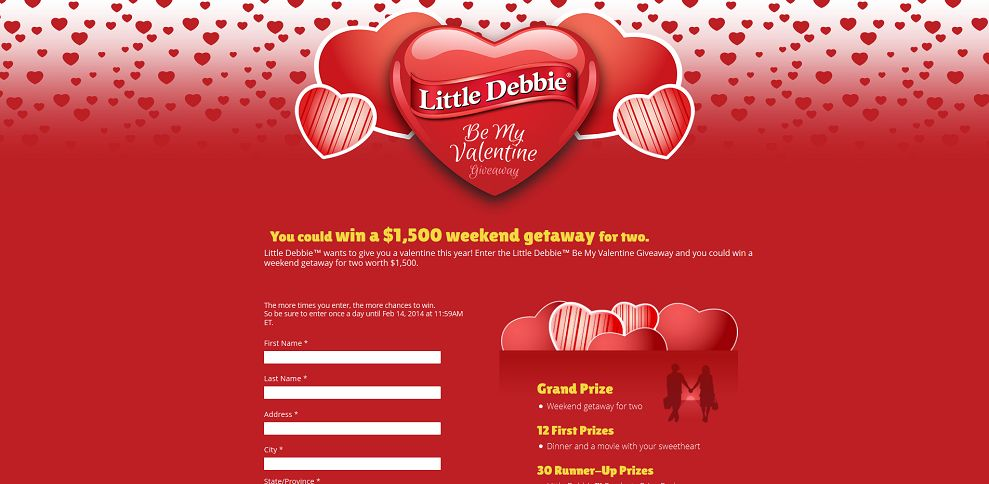 #4237-Little Debbie's Be My Valentine Giveaway-www_littledebbievalentines_com