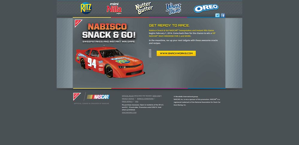 #4346-Nabisco Snack & Go! NASCAR® Sweepstakes and Instant Win Game-mondelez_promo_eprize_com_nascar