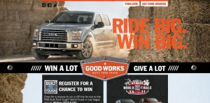 ford.com/goodworks - Built Ford Tough Good Works Sweepstakes