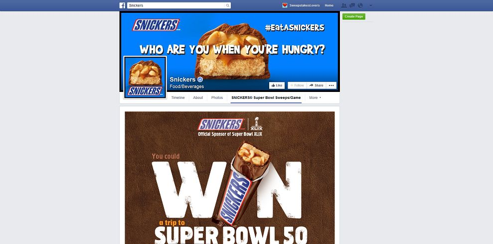 Snickers Super Bowl Satisfaction Game
