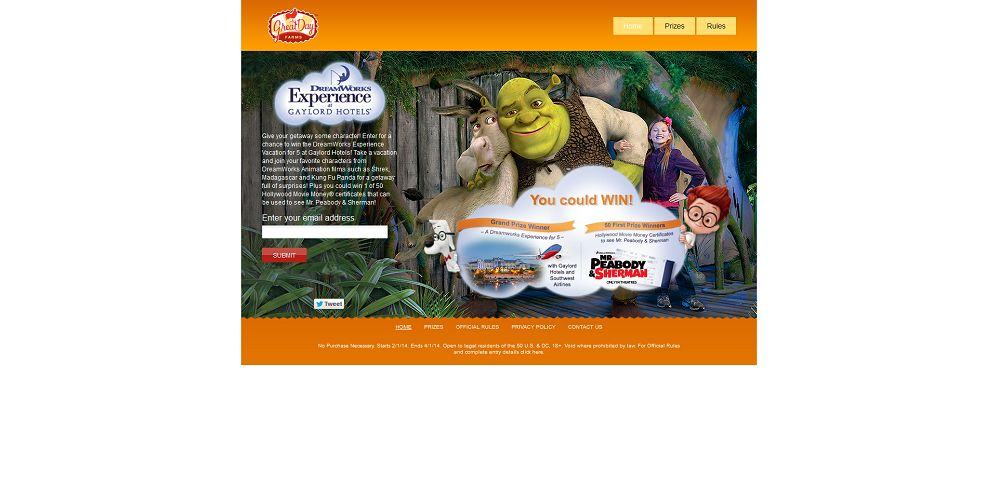 #4510-DreamWorks Experience at the Gaylord Hotels Sweepstakes-www_greatdayfarmssweeps_com