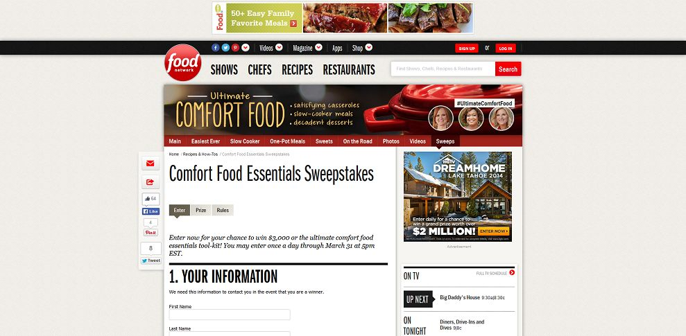 #4542-Comfort Food Essentials Sweepstakes _ Food Network-www_foodnetwork_com_recipes_packages_comfort-foods_sweepstakes_sweepstakes-enter_html