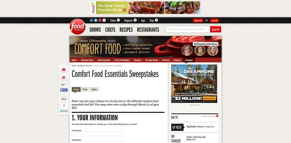 #4542-Comfort Food Essentials Sweepstakes _ Food Networ