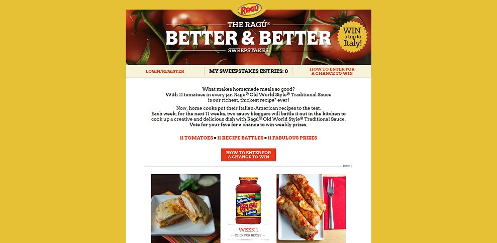 #4721-The Ragú Better & Better Sweepstakes-ragu_promo_eprize_com_betterandbetter