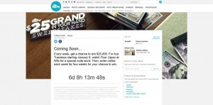 hgtv.com/25grand - HGTV 25 Grand in Your Hand Sweepstakes (code word)