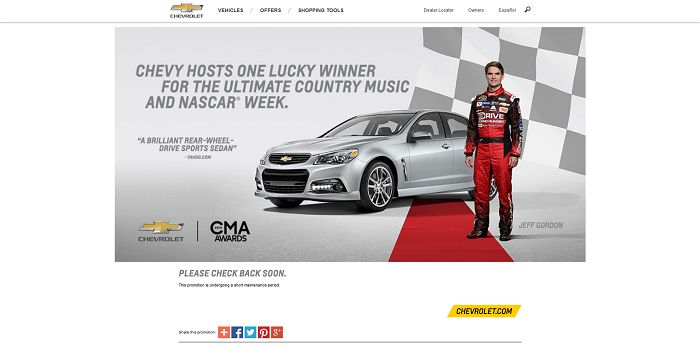 winyourchevy.com - Win the 2015 Chevrolet SS Sweepstakes