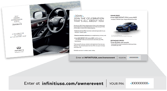 INFINITI Owner Appreciation Event mailer