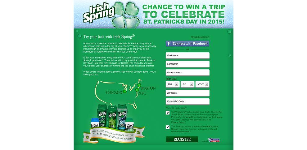 #4850-Irish Spring® St_ Patrick's Day Sweepstakes-irishspring_promo_eprize_com_stpatricksday