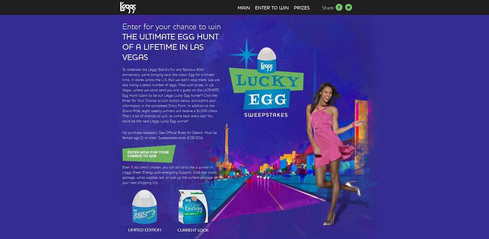 #4888-L'eggs Lucky Egg Sweepstakes-www_leggsluckyegg_com