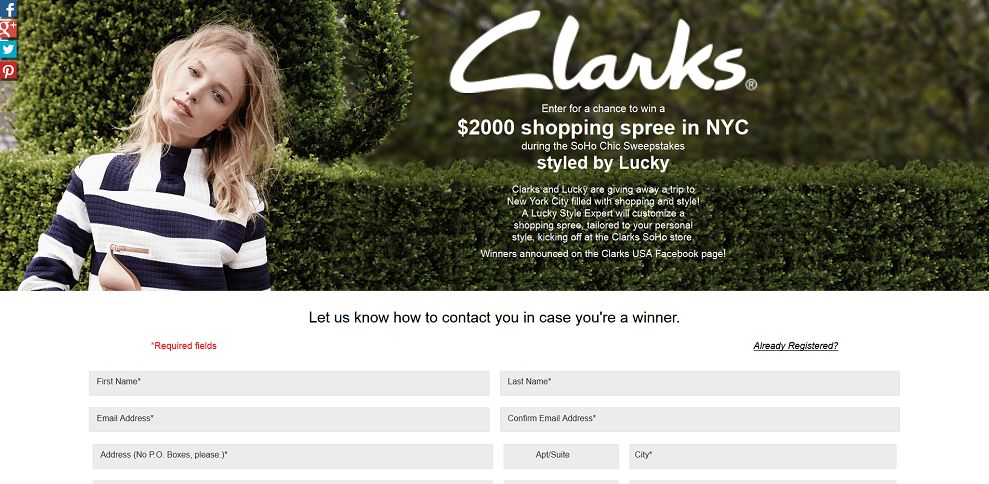 #5042-SoHo Chic Sweepstakes Styled by Lucky-clarks_promo_eprize_com_sohochicsweepstakes