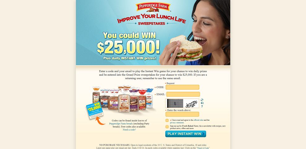 #5234-Pepperidge Farm - Improve Your Lunch Life Sweepstakes-improveyourlunchlife_com